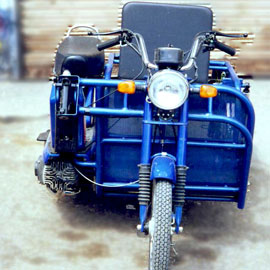 Three Wheeler Bike Side Wheel Attachment In India